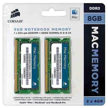 Kit de Memória Corsair Mac 8GB (1333MHz)  - Rei dos HDs