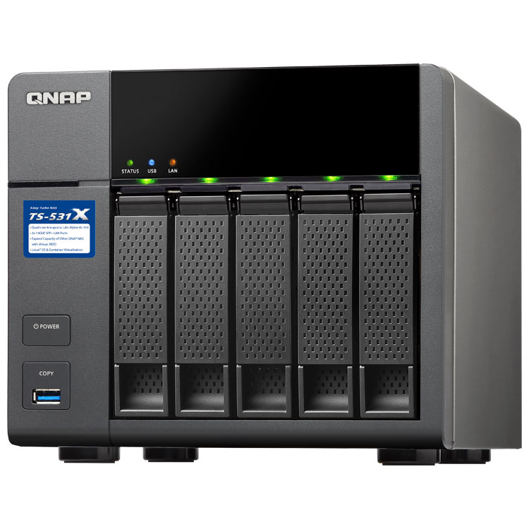 Case QNAP TS-531X 5Bay 0TB  - Rei dos HDs