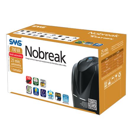 Nobreak SMS New Station 5 Tomadas 700Bi  - Rei dos HDs