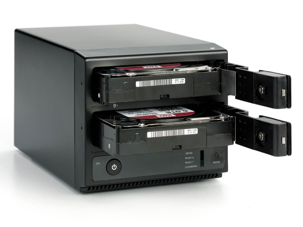 HD + Case Oyen Digital Mobius 2-Bay 16TB  - Rei dos HDs