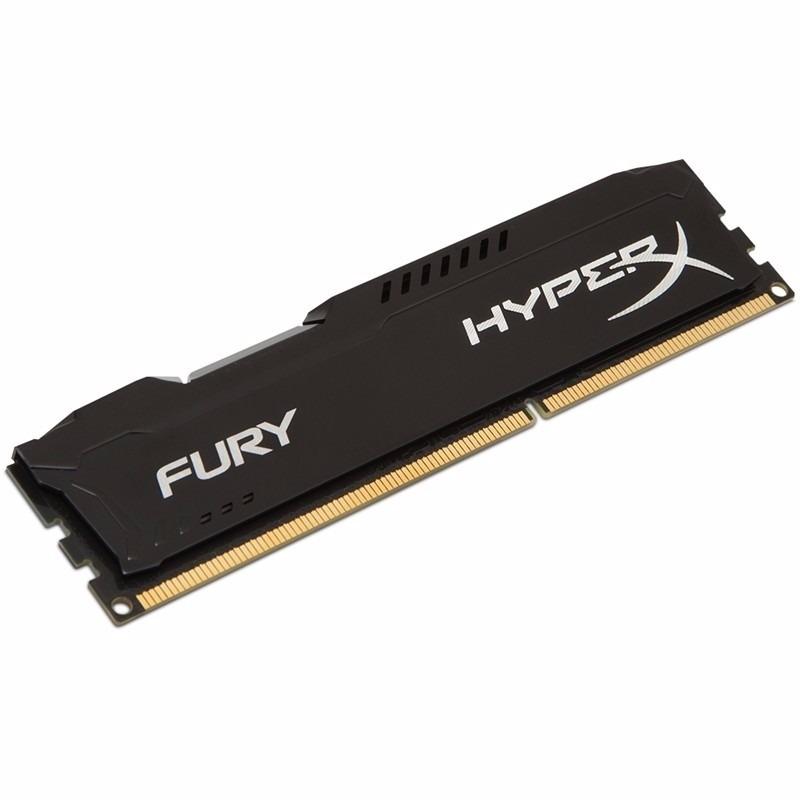 Memória Kingston HyperX Fury 1600MHz DDR3 4GB PRETA  - Rei dos HDs