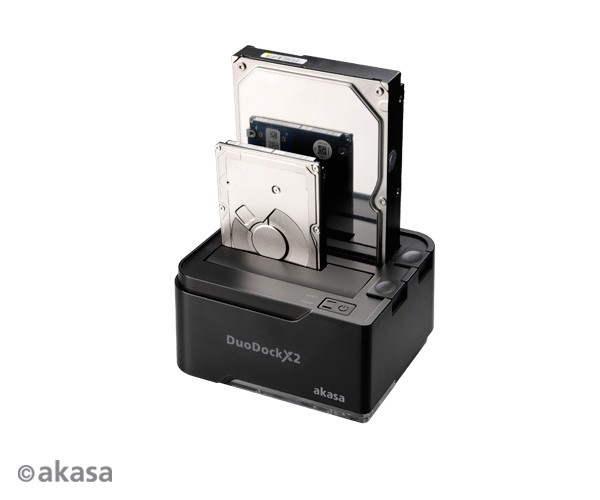 Dock Akasa DuoDock X2 USB 3.0 2HDs  - Rei dos HDs