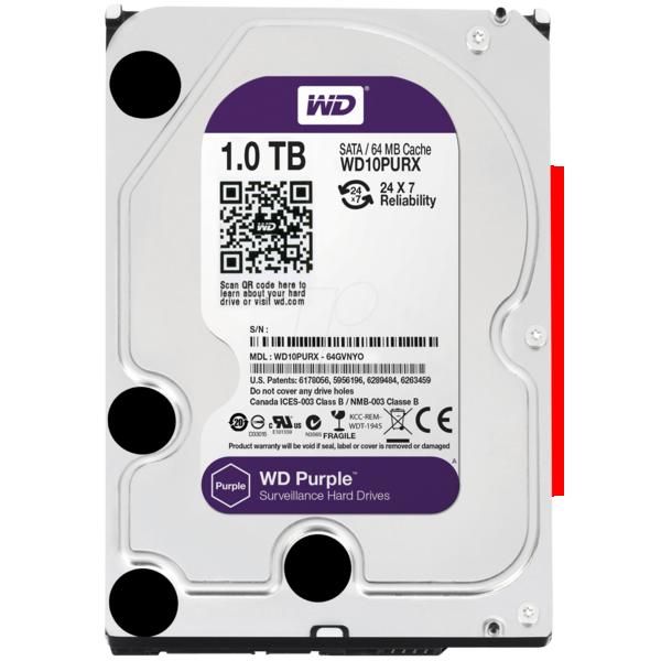 HD WD Purple 3.5 1TB  - Rei dos HDs
