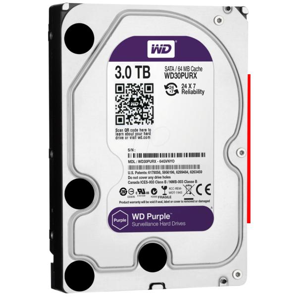 HD WD Purple 3.5 3TB  - Rei dos HDs