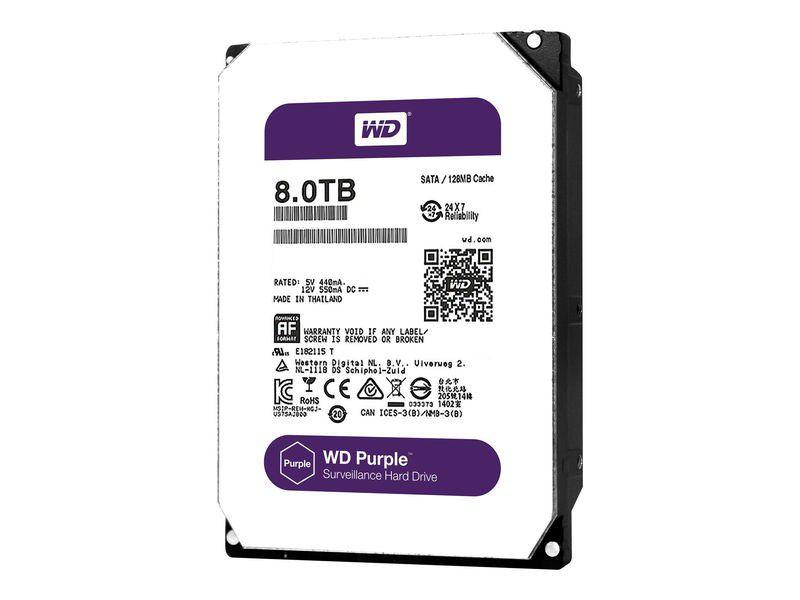 "HD WD Purple 3.5"" 8TB  - Rei dos HDs"