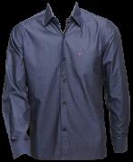 Camisa masc. ML cinza escuro