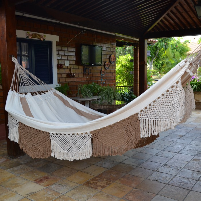 Rede de Dormir e Descansar Algodão Varanda Crochê