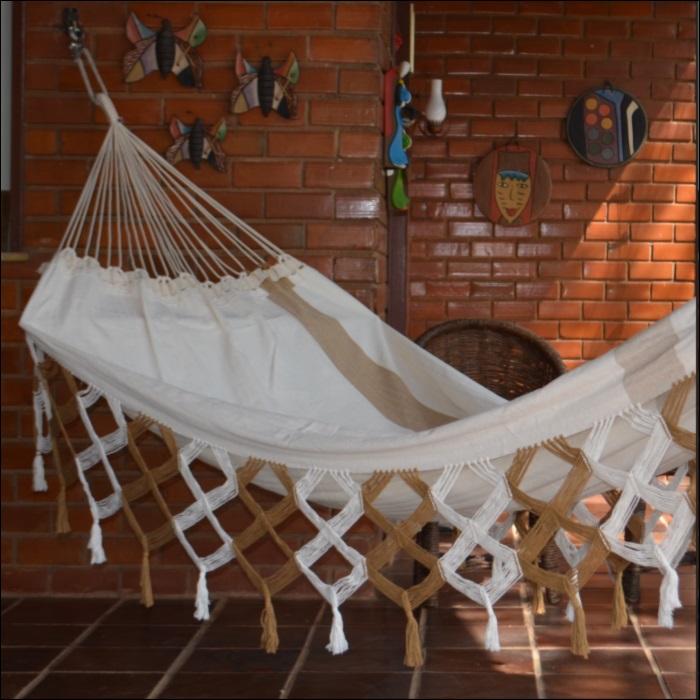 Rede de Dormir e Descansar Casal Algodão Varanda de Capas