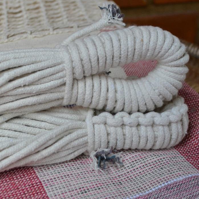 Rede de Dormir e Descansar Algodão Xadrez com Varanda Crochê