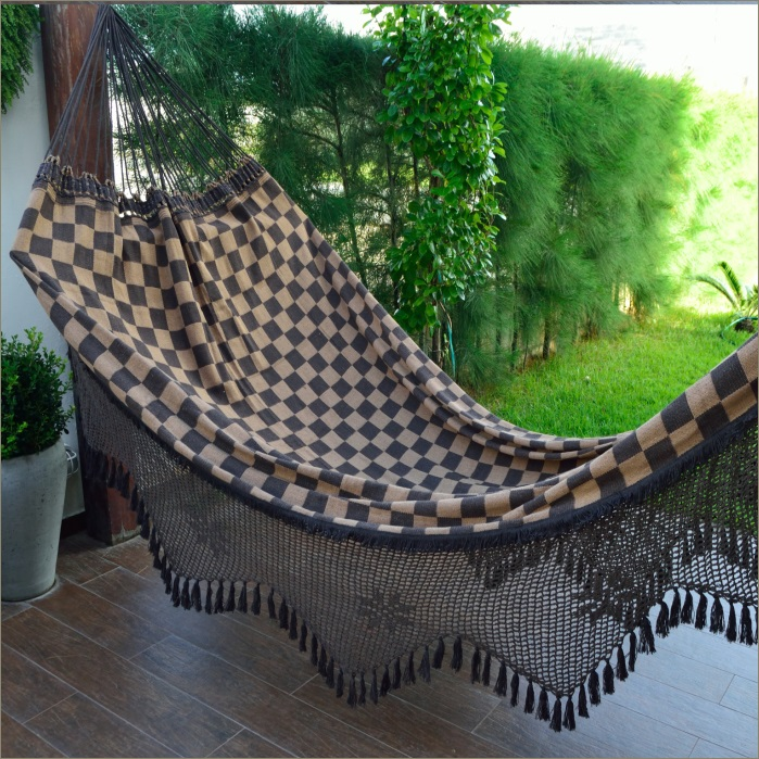 Rede de Descanso Dama Casal com Varanda Crochê