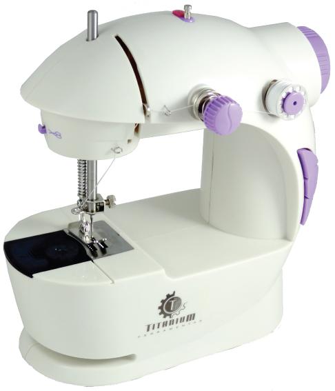d5fc57991 Mini Máquina De Costura Portátil C  Luz Pedal Bobinas e Brinde - LOJA DO  NOEL