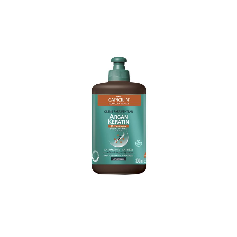 Creme Para Pentear Capicilin Argan Keratin 300ml