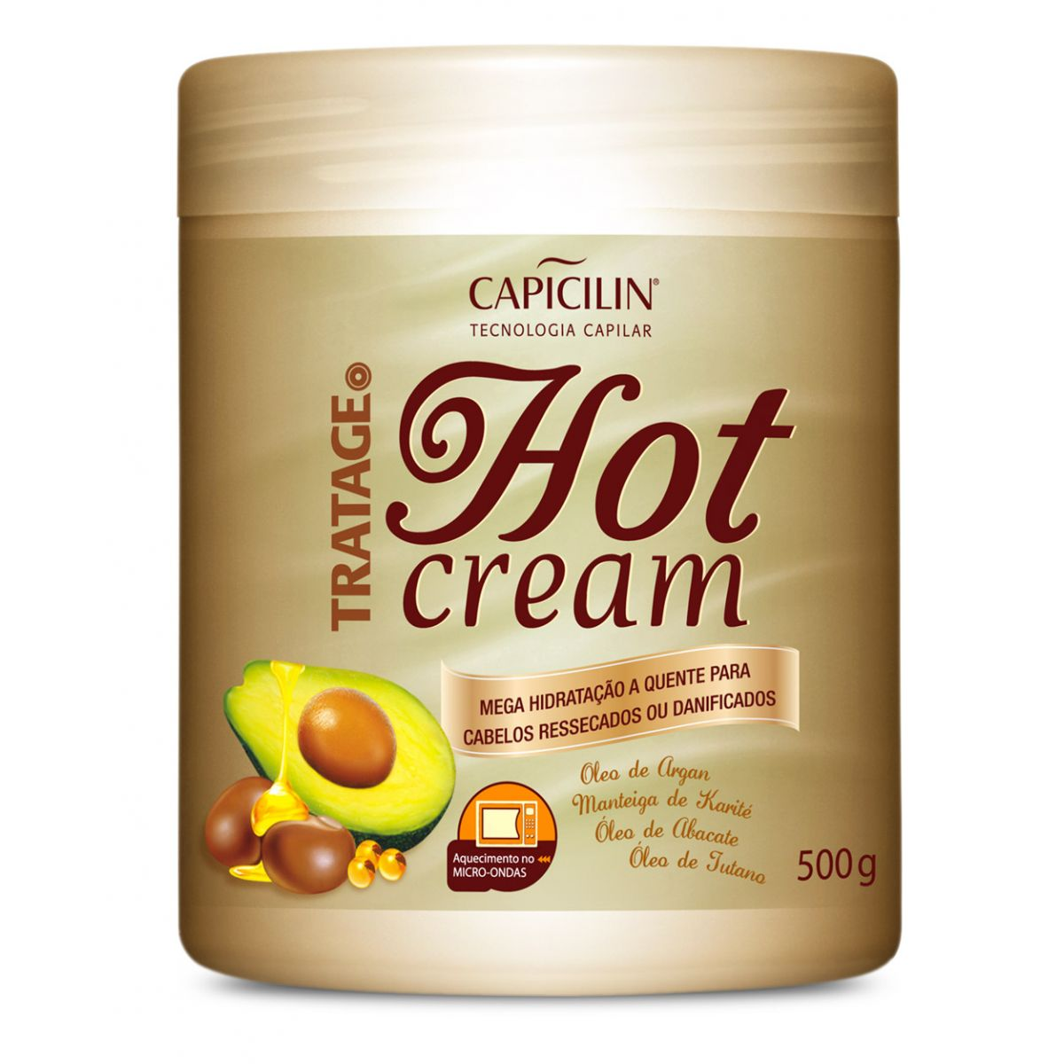 Hot Cream Tratage Abacate 500g