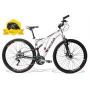Bicicleta GTSM1 Advanced New Full aro 29 freio a disco 21 marchas + Brinde Capacete