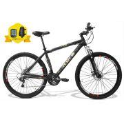 Bicicleta GTSM1 Obstáculo 1.0 aro 29 freio a disco 24 marchas + Brindes Ciclo Computador + Bolsa de Quadro