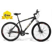 Bicicleta GTSM1 Obst�culo 1.0 aro 29 freio a disco 24 marchas + Brindes Ciclo Computador + Lanterna