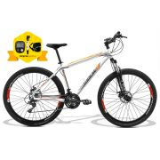 Bicicleta GTSM1 Walk 1.0 aro 29 freio a disco 24 marchas + brindes Ciclo computador + Bomba + Bolsa de Selim aero