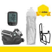 kit Ciclista GTSM1 - Bolsa Selim + Ciclo Computador + Squeeze T�rmica + Suporte Squeeze