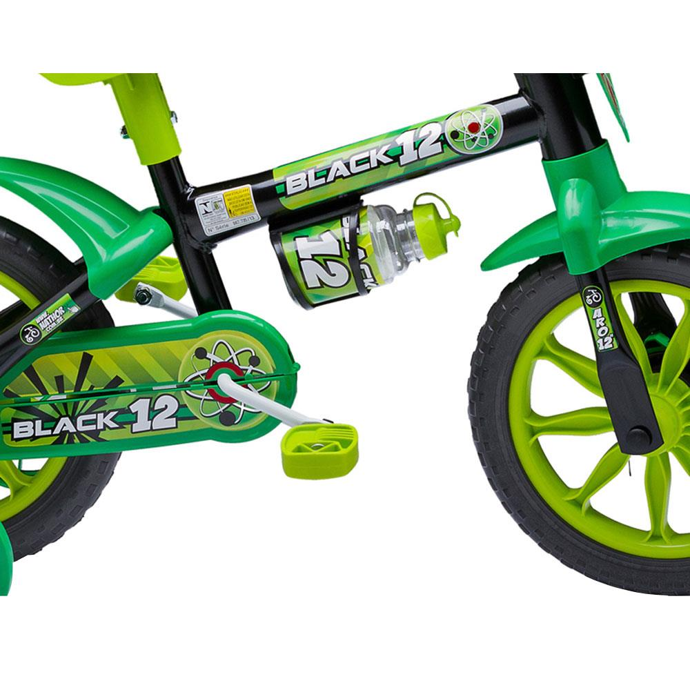 Bicicleta Aro 12 Black Nathor