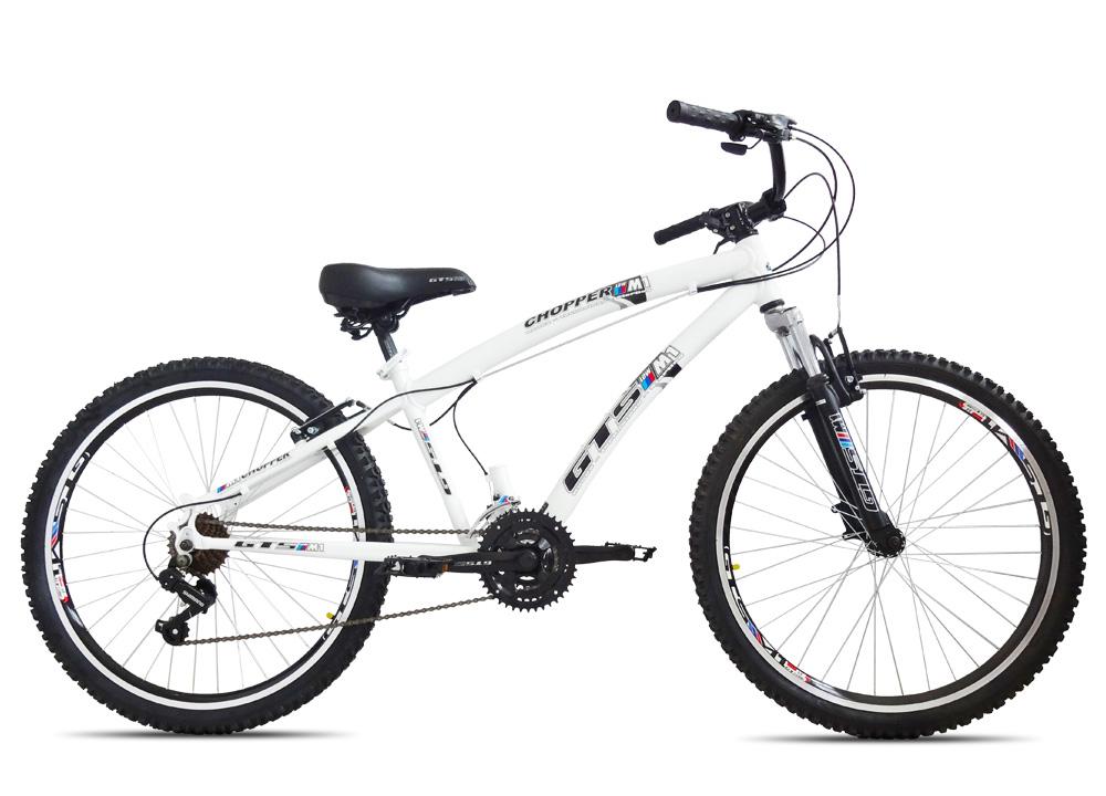 Bicicleta GTSM1 Chopper aro 26 freio v-brake 21 marchas