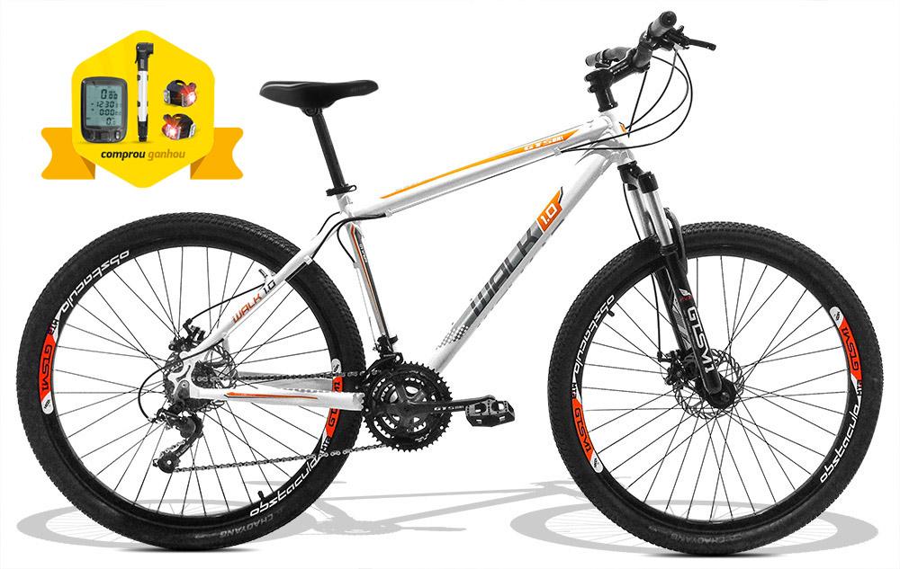 Bicicleta GTS Walk 1.0 aro 29 freio a disco 24 marchas + Brindes