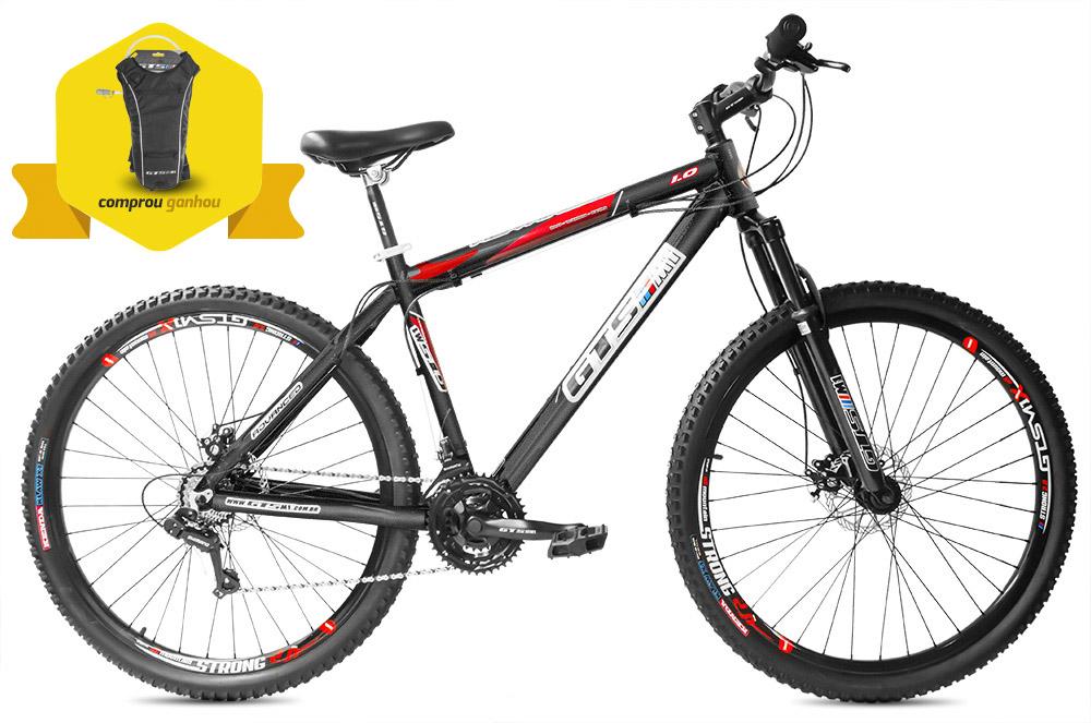Bicicleta GTSM1 Advanced 1.0 aro 29 freio a disco 24 marchas + Brinde Mochila de Hidratação