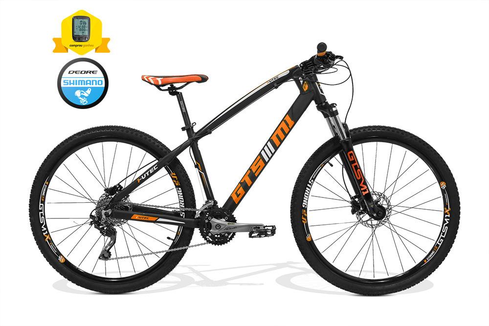 Bicicleta GTSM1 I-VTEC aro 29 freio a disco hidráulico 27 marchas câmbio Deore + BRINDE CICLO COMPUTADOR