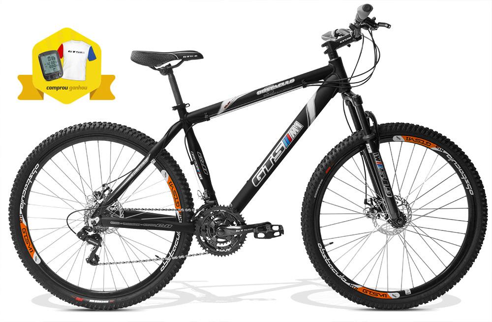 Bicicleta GTSM1 Obstáculo 2.0 aro 29 freio a disco 24 marchas + Brindes Ciclo Computador + Camiseta