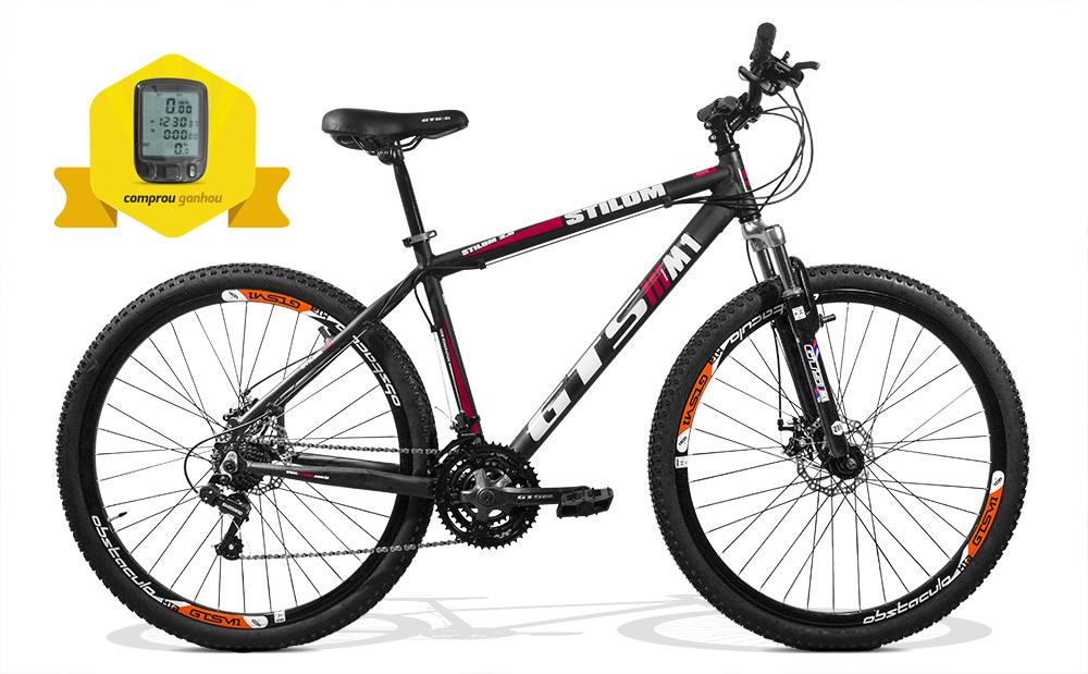 Bicicleta GTSM1 Stilom 2.0 aro 29 freio a disco 24 marchas + Brinde Ciclo Computador
