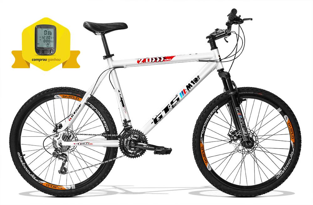 Bicicleta GTSM1 Walk 2.0 aro 26 freio a disco 21 marchas + Brinde Ciclo Computador