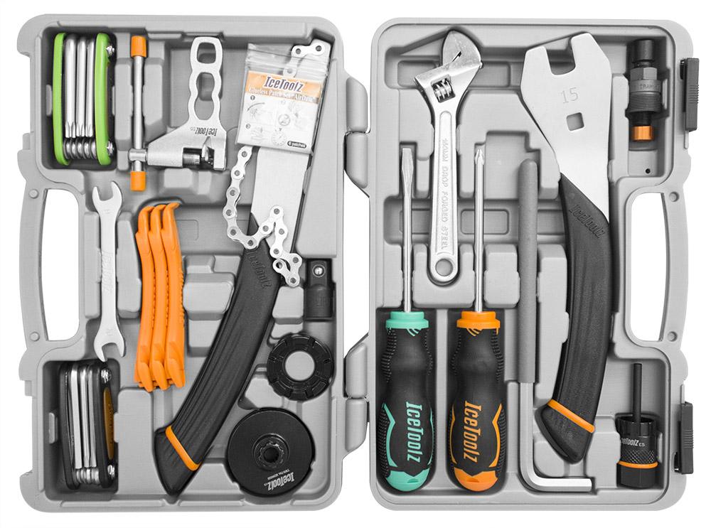 Caixa de ferramentas Icetoolz para bicicleta