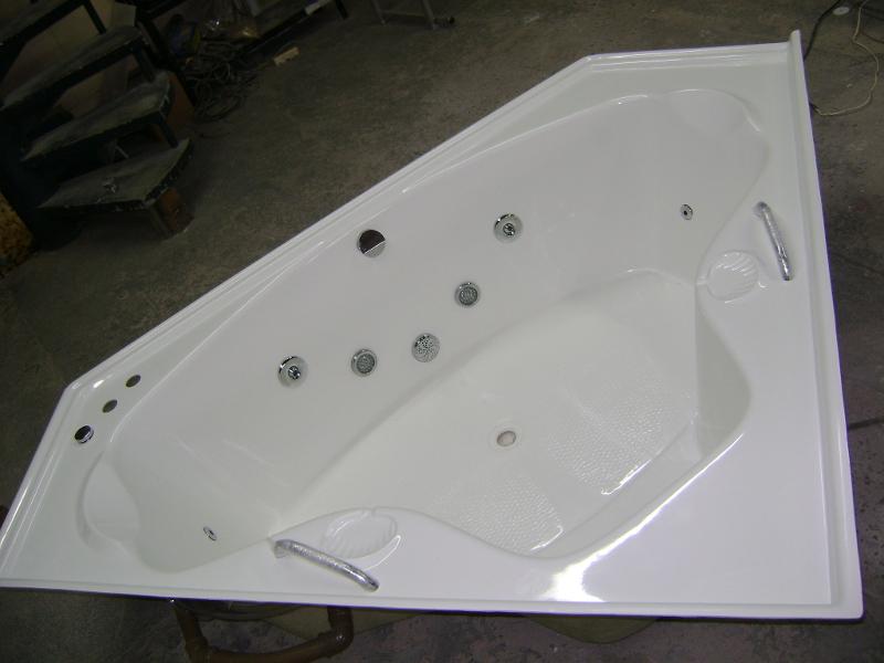 Banheira Dupla de Canto Realce 1,60 x 1,60