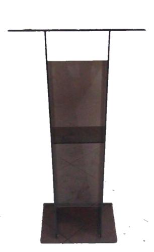 Púlpito de Acrílico (45 cm X 110 cm) - Cor Fumê