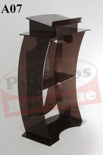 Púlpito de Acrílico (70 cm X 115 cm) - Cor Fumê