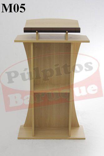 Púlpito de Madeira (70 cm X 115 cm) - Cor Carvalho