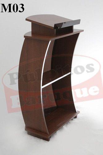 Púlpito de Madeira com Acrílico (67 cm X 115 cm) - Cor Tabaco