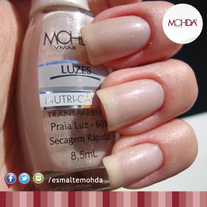 Esmalte Mohda Luzes - Praia Luz  - Maria Pomposa