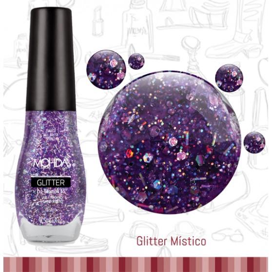 Esmalte Mohda Glitter Plus - Místico  - E-Mohda