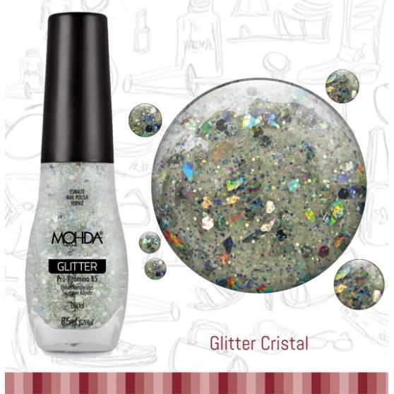 Esmalte Mohda Glitter Plus - Cristal  - E-Mohda