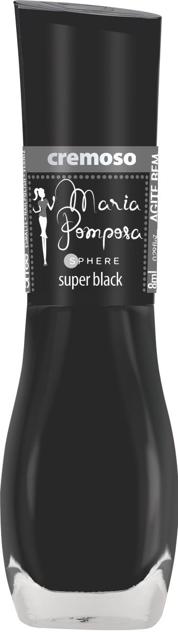 Esmalte Maria Pomposa - Super Black  - E-Mohda
