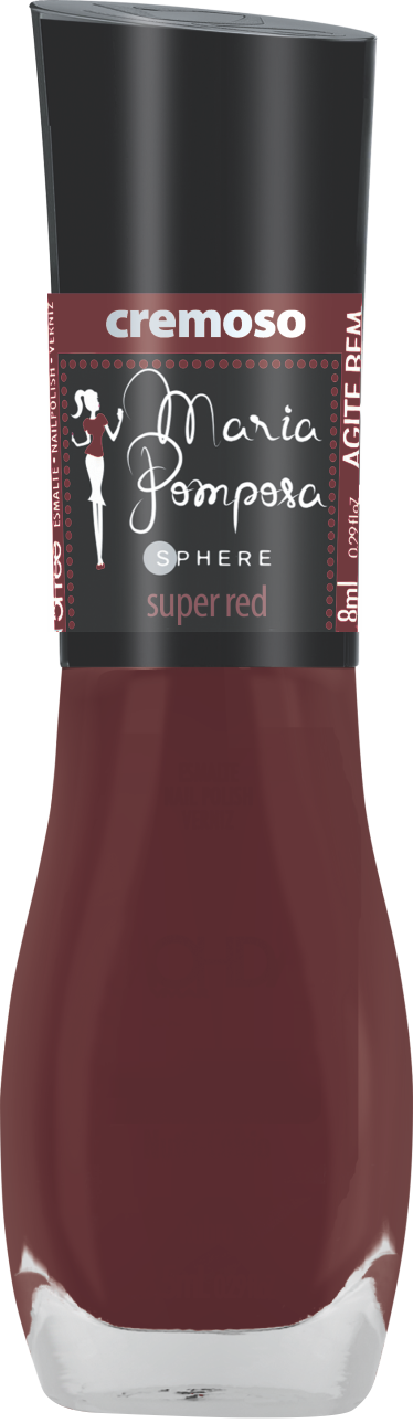 Esmalte Maria Pomposa - Super Red  - E-Mohda