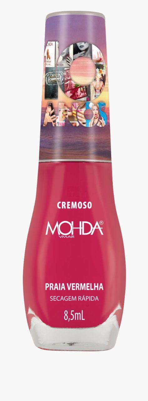 Esmalte Mohda Cremoso - Praia Vermelha (10 anos)  - E-Mohda