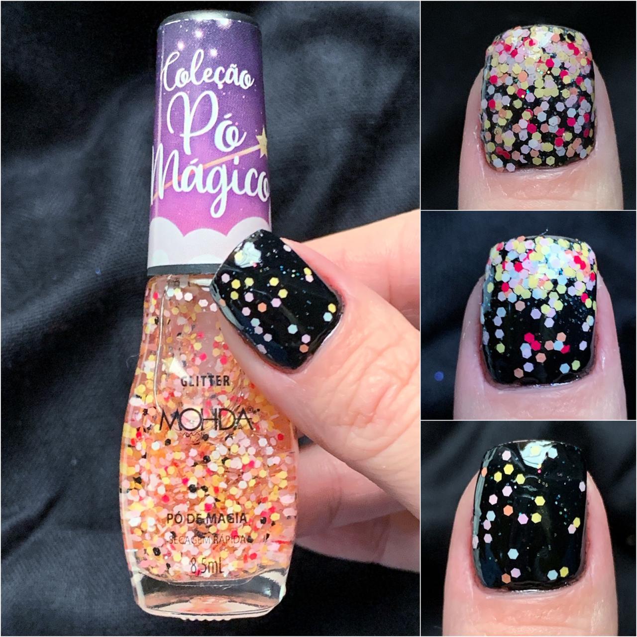 Esmalte Mohda Glitter - Pó de Magia  - E-Mohda