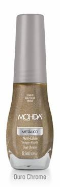 Esmalte Mohda Metálico - Ouro Chrome  - Maria Pomposa