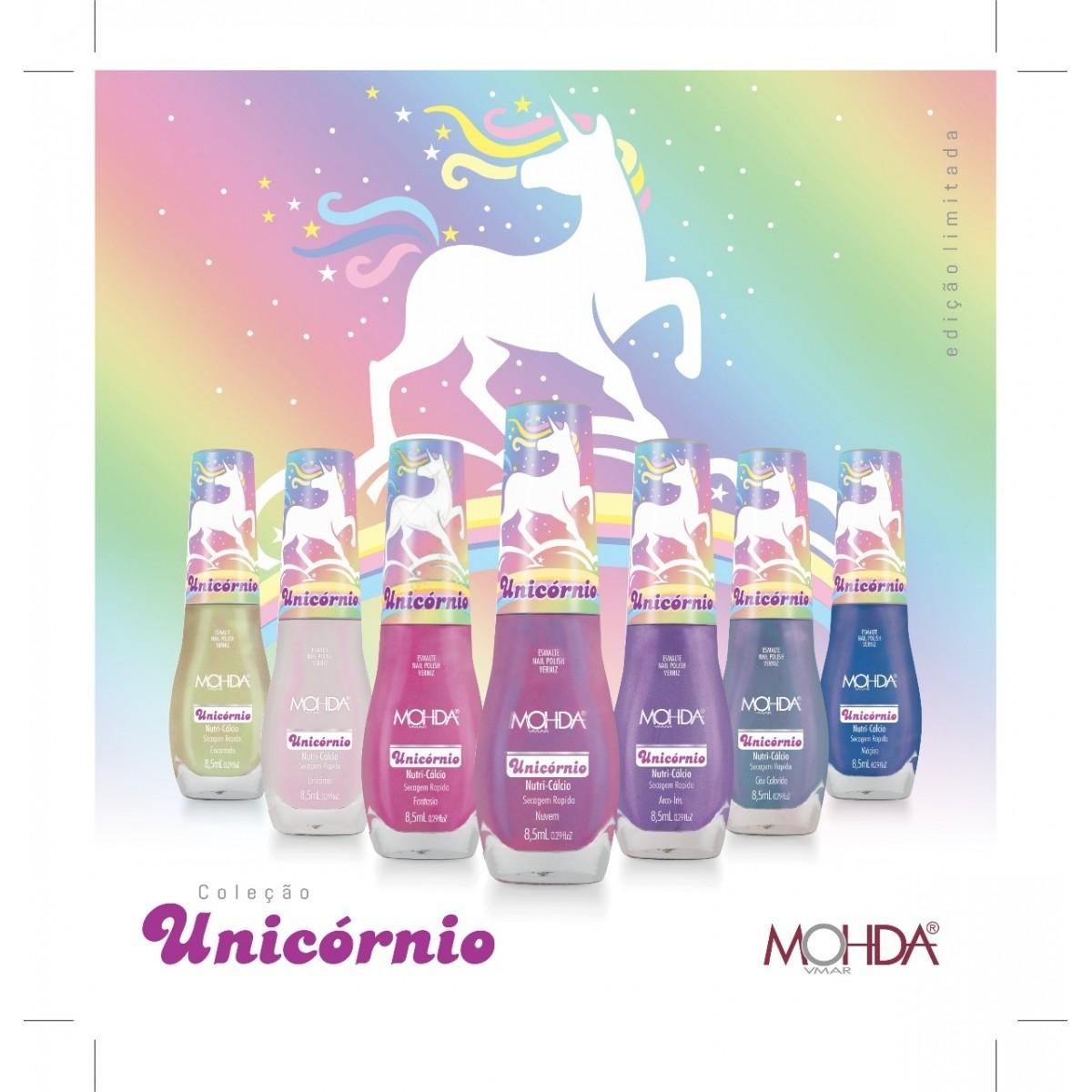Coleção Unicórnio (7 cores + Base Recuperadora + Cobertura Vitrificada + 1 Toalhinha de brinde)   - Maria Pomposa