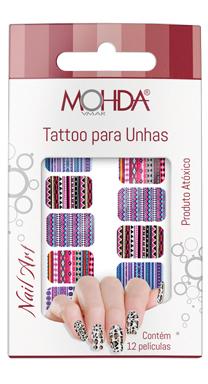 Tattoo para unhas Mohda - Étnico  - Maria Pomposa