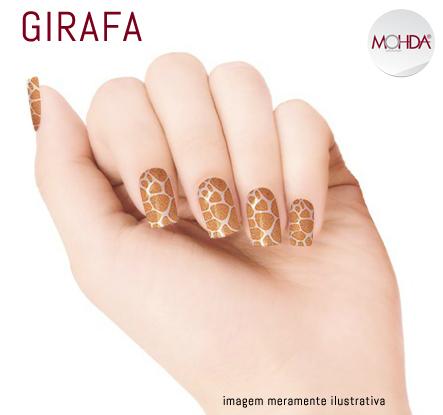 Tattoo para unhas Mohda - Girafa  - Maria Pomposa
