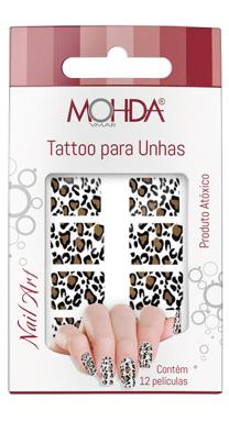 Tattoo para unhas Mohda - Onça  - E-Mohda