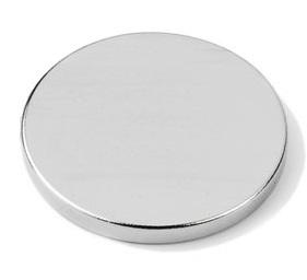 Imã de Neodímio Disco N35 18x2 mm