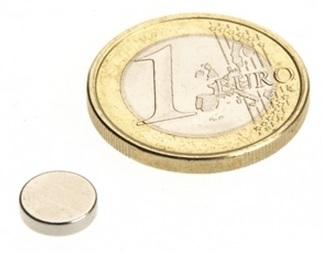 Imã de Neodímio Disco N35 8x1,5 mm  - Polo Magnético